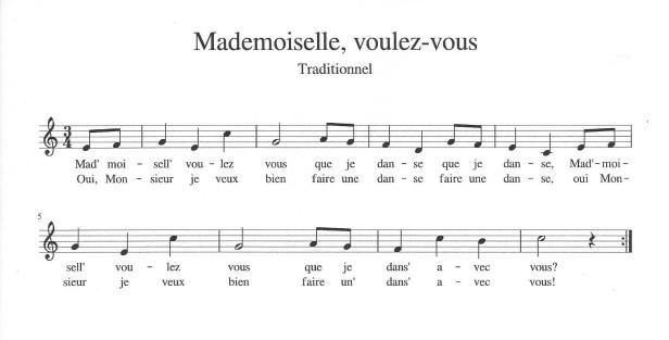 Mademoiselle voulez-vous