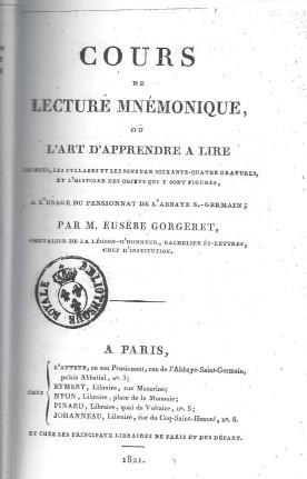 lecture mnémonique, de Gorgeret