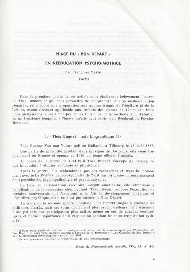 Bon Départ Francoise Masse 1
