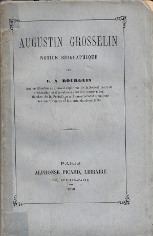 Grosselin couverture biographie 1870
