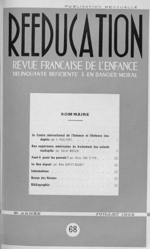 Couverture rééducation 1955