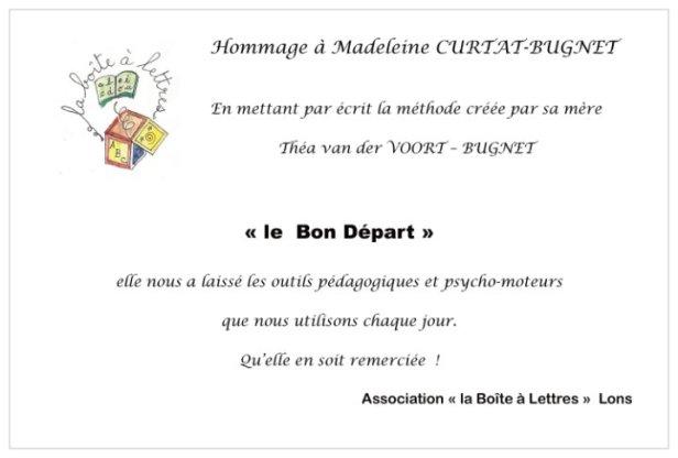 hommage Madeleine Curtat
