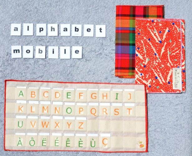 alphabet mobile tissu 1